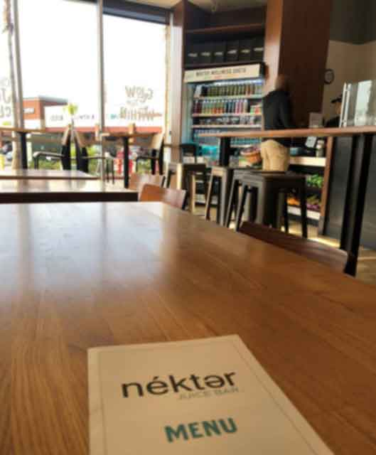 Nekter Juice Bar Menu