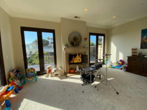 Living Room With Fire Place Of San Clemente Ocean View Home For Lease