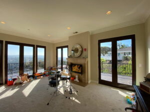 Another View of the Living Room With Fire Place Of San Clemente Ocean View Home For Lease
