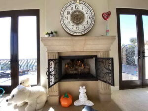 Living Room Fire Place Of San Clemente Ocean View Home For Lease