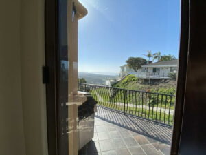 Side Patio View of Ocean Of San Clemente Ocean View Home For Lease