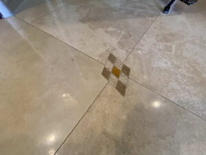 Travertine Floor of Home For Lease