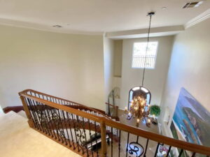 Bridge with View Of Sweeping Stair Case of Ocean Of San Clemente Ocean View Home For Lease